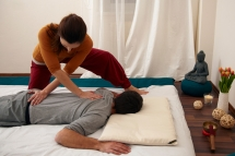 Gentle stretches prepare your body for the treatment
