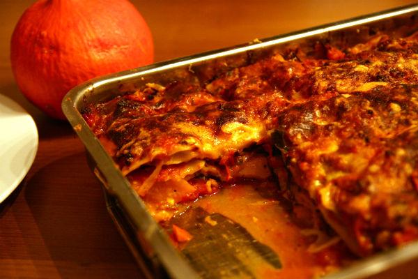 Kürbis-Mangold-Lasagne